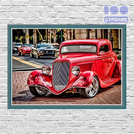 Classic Retro Red Ford1934 плакат